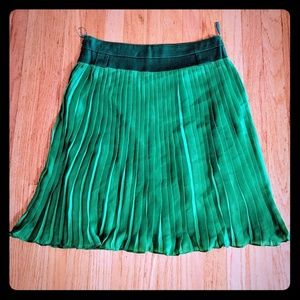 Gorgeous green fringe skirt NWOT